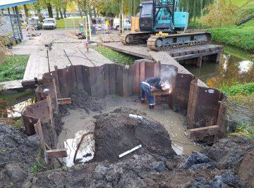 Tijdelijke damwandkuip- Heiconbv
